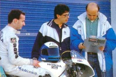 Con la Honda NS500 en 1989 ?